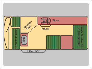 Budget 2 Berth ST Layout